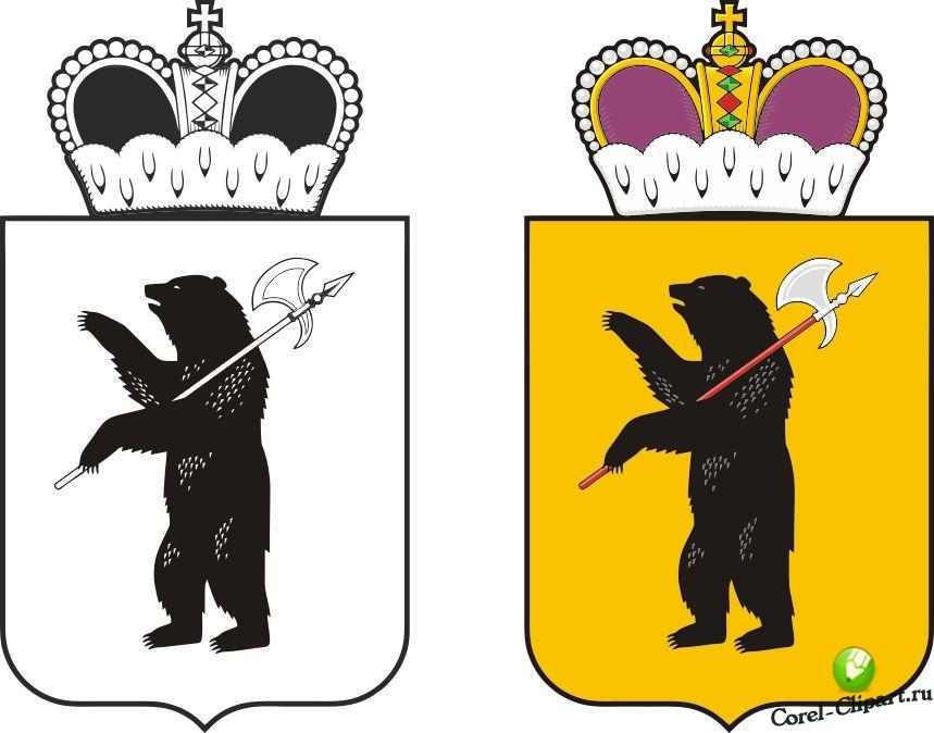 Раскраски для детей герб ярославля