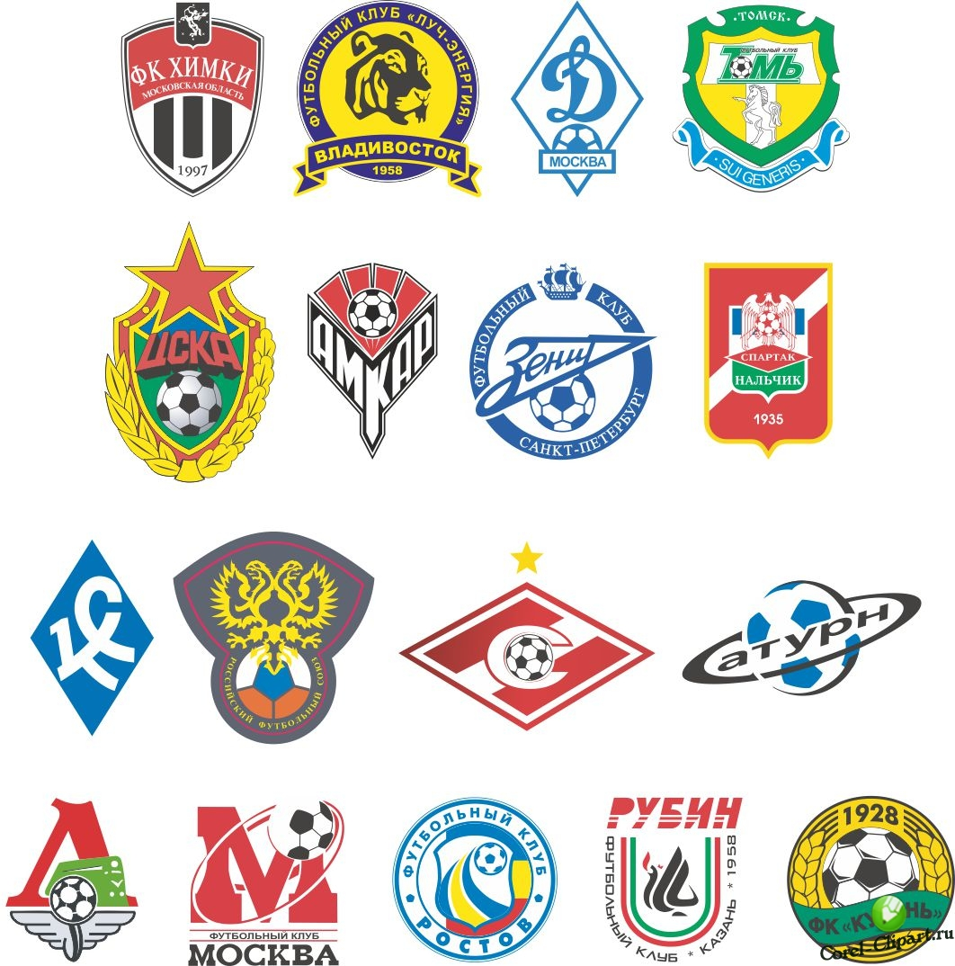 логотипы клубов: